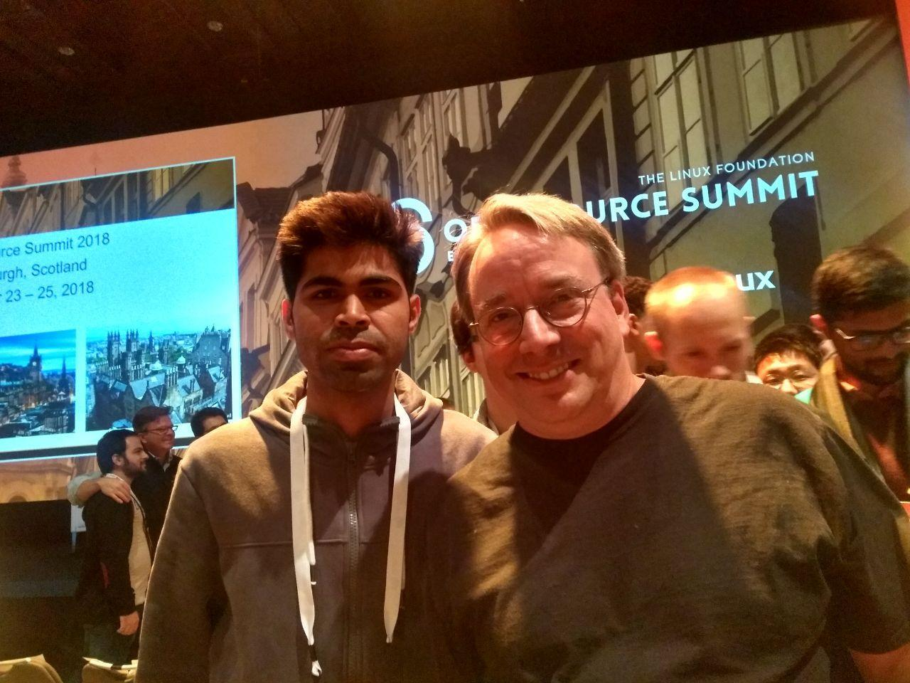 Shyam with Linus