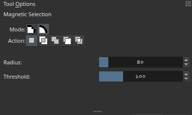 Magnetic Lasso Tool Options